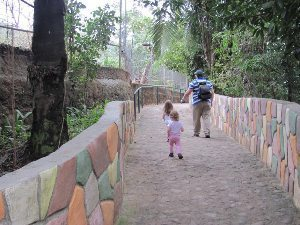 The kids enjoy a day at the Puerto Vallarta zoo.