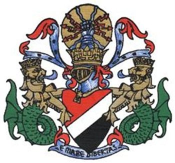 The official Sealand coat of arms.