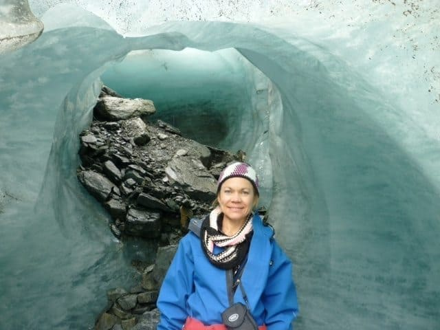 Inside the Fox Glacier on the south Island.