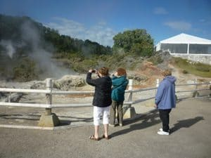 Hot springs in Rotorua, New Zealand, the country's most popular attraction.