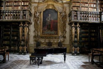 The Joanine library in Coimbra, Portugal. Paul Shoul photo.