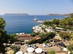 View of the island of Meis from Kas.