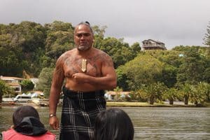 Maori warrior in the North Island. Max Hartshorne photo.
