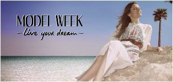 Model Week is pampering, jet setting, photo shoots and everything you'd do if you were a real model. In Barcelona.