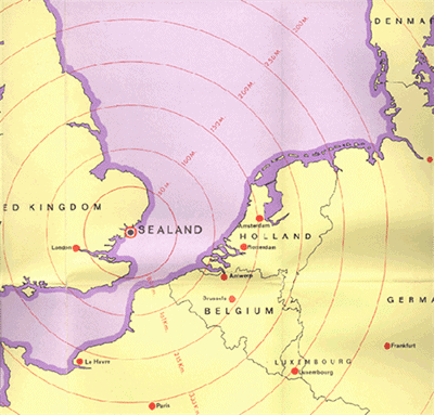 A map showing the physical location of Sealand.