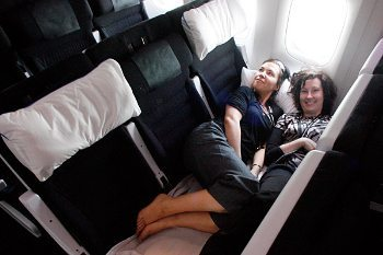 Sleep on Air New Zealand's Skycouch!