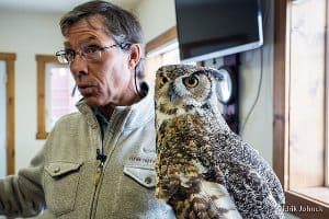 Roger Smith at the Teton Raptor Center.