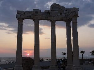 Sunset at the Temple in Kas, Turkey. John Caldwell photos.