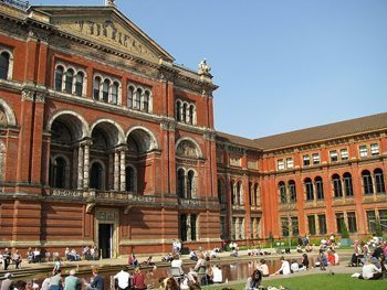 Courtyard at the Victoria and Albert Museum, London. photo by FJ Napoleone.