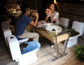 More than Toilet is a restaurant where you can sit and eat on toilets. Really!