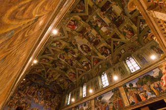 The Sistine Chapel ceiling in Vatican City
