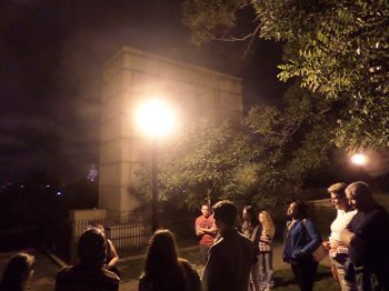 The beginning of the Providence Ghost Tour at Prospect Terrace Park.