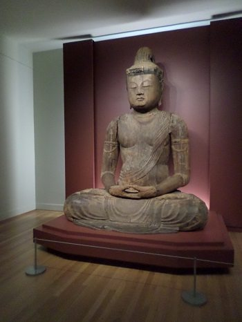 The 1,000 year-old Buddha statue at the RISD Museum.