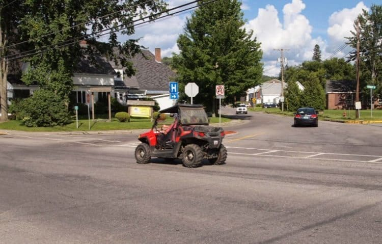 In Colebrook, NH, you see ATVs riding down the roads all the time.