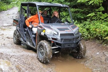 Riding an ATV on the 1000 miles of trails in Coos County, New Hampshire. Max Hartshorne photos.