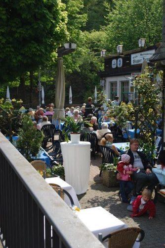 The beer garden.