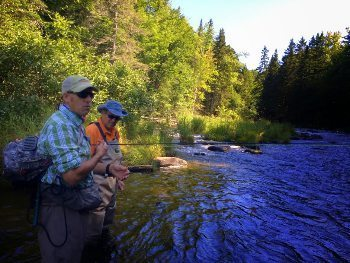 Bill Barnhardt, of Lopstick Outfitters, our NH fishing guide.