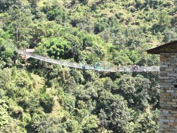 The bungee bridge.