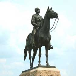 Statue of General Mead at Gettysburg.