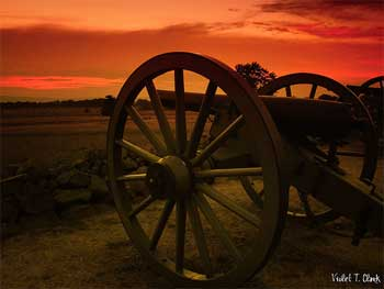 A cannon at the battlefield at Gettysburg, Pennsylvania.