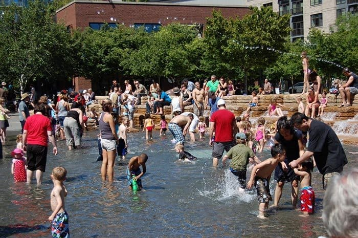 Jamison Square in Portland: One of the top ten places for kids in the city.