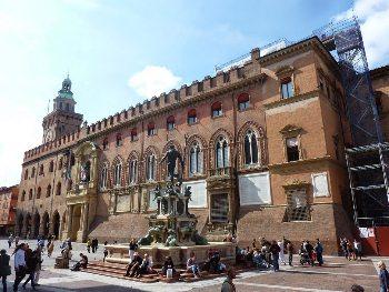 Bologna's main city square.