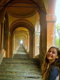 The 666 stairs at Sanctuary San Luca.