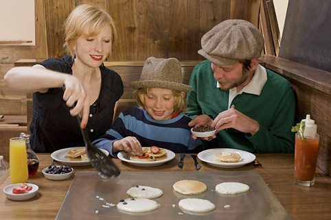 Make your own pancakes at Slappy Cakes.