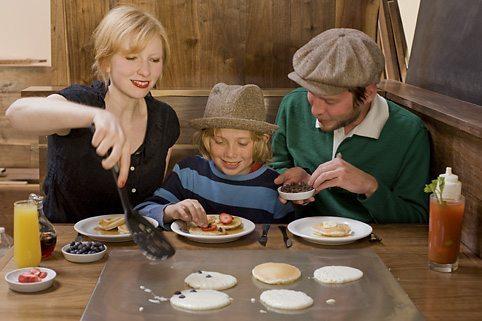 Make your own pancakes at Slappy Cakes.