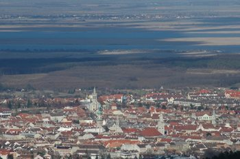 View of Sopron and Ferto, Hungary.