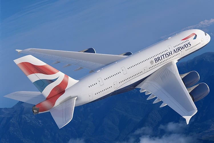 A British Airways A380: Considered one of the most comfortable planes in the sky.