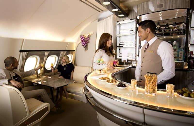 Inspired by private yacht cabins, Emirates' next generation A380 Onboard Lounge offers a luxurious experience.