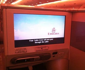 Emirates in-flight entertainment