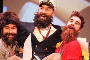 Beard contest winners at the Festival du Voyageurs, in Winnipeg, Manitoba. photos by Max Hartshorne.