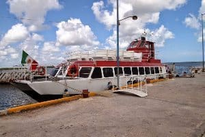 The ferry to Isla Holbox that departs from Chiquilla.