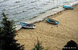 Fishing boats on Lake Ohrid.