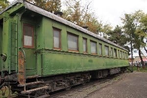 Stalin's private railroad car, which he used to travel everywhere.
