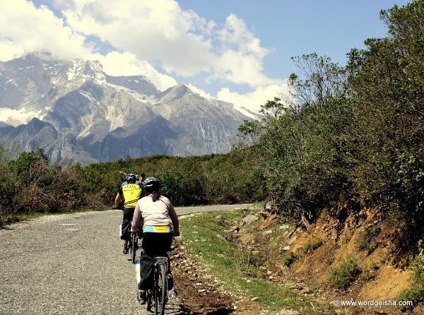 Biking the road to Gjirokastra, Albania. Melissa Adams photos.
