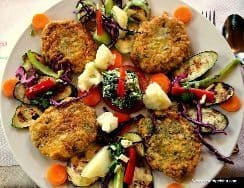 A veggie feast.