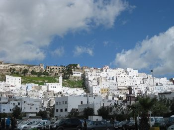 The scenic village of Tetouan, where the protest took place.