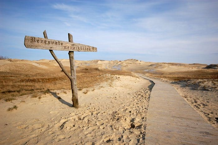 The sands of Curonian spit National Park