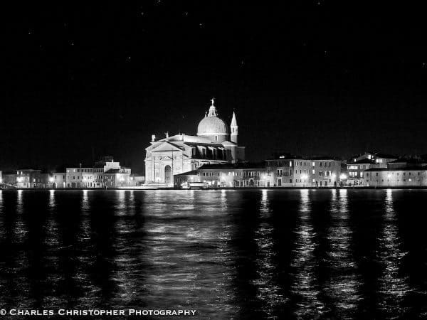 """9. Sheila Buckmaster Electric lights twinkling here and there in the dark, it seems as if the buildings of Venice are whispering. """"Don't worry about us. Sure, there's high water, pollution, and other threats - but can't you see our pride and resilience? We are survivors."""" In the darkness, the majesty of this city overwhelms."""