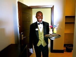 My butler at the Sandals resort.