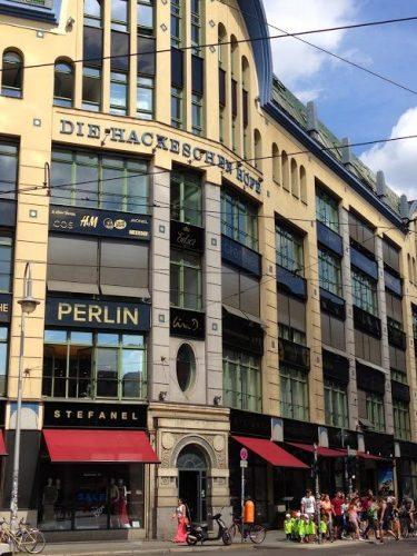 die hackeschen hofe, one of many hofes that lie behind the visible street facades in Berlin. Bernadette Geyer photos.