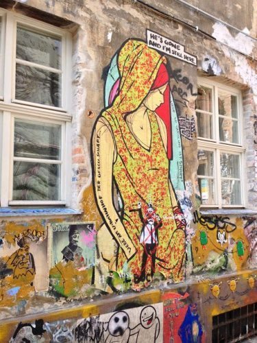 El Bocho street art in Berlin.