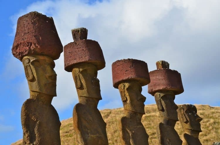 Rapa Nui's famous statues---most of them are actually under the ground. Keith Hajovsky photos.