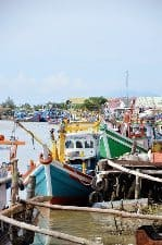 Fishing boats in Banda Aceh.