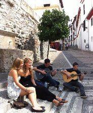 Hostelers in Granada's Albaicin.