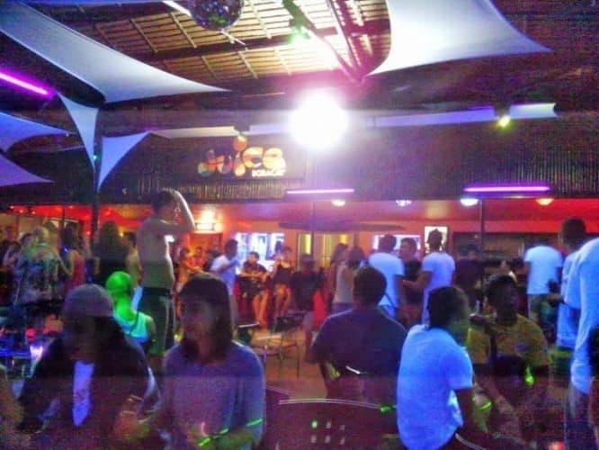 Dance floor at the Juice bar.