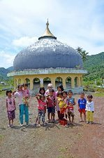 Kids at dome removed by tsunami miles away.